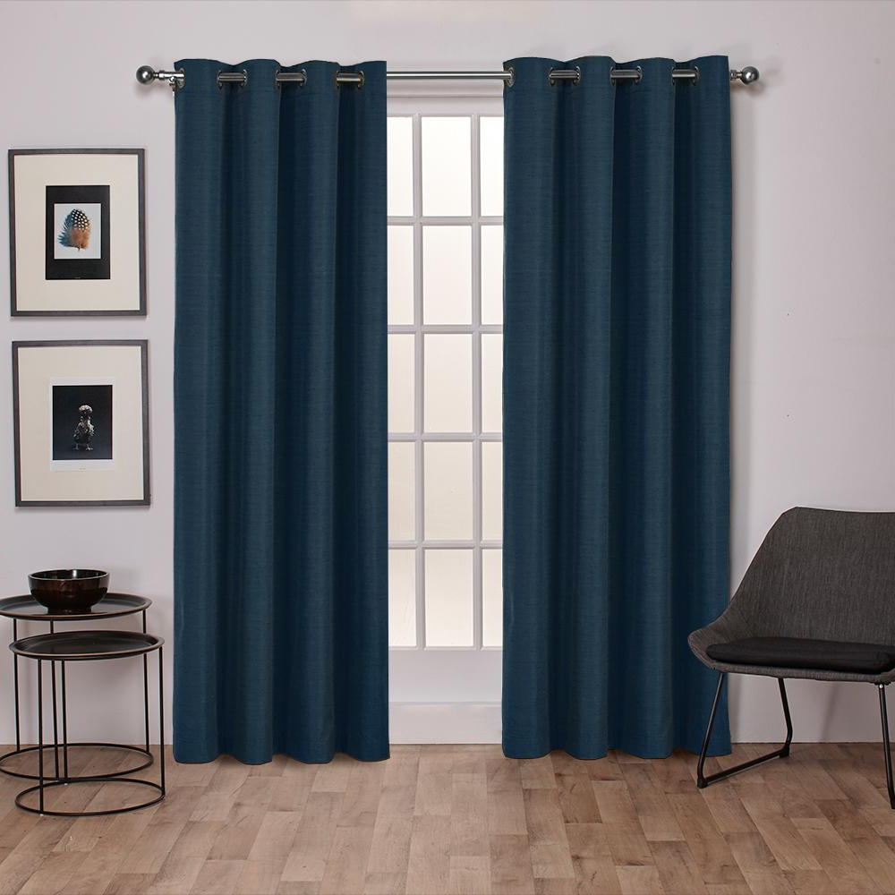 Best And Newest Raw Silk Thermal Insulated Grommet Top Curtain Panel Pairs For Raw Silk 52 In. W X 108 In (View 5 of 20)