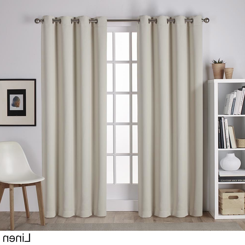 Best And Newest Sateen Twill Weave Insulated Blackout Window Curtain Panel Pairs Regarding Porch & Den Mcclugage Sateen Twill Weave Insulated Blackout (View 7 of 20)
