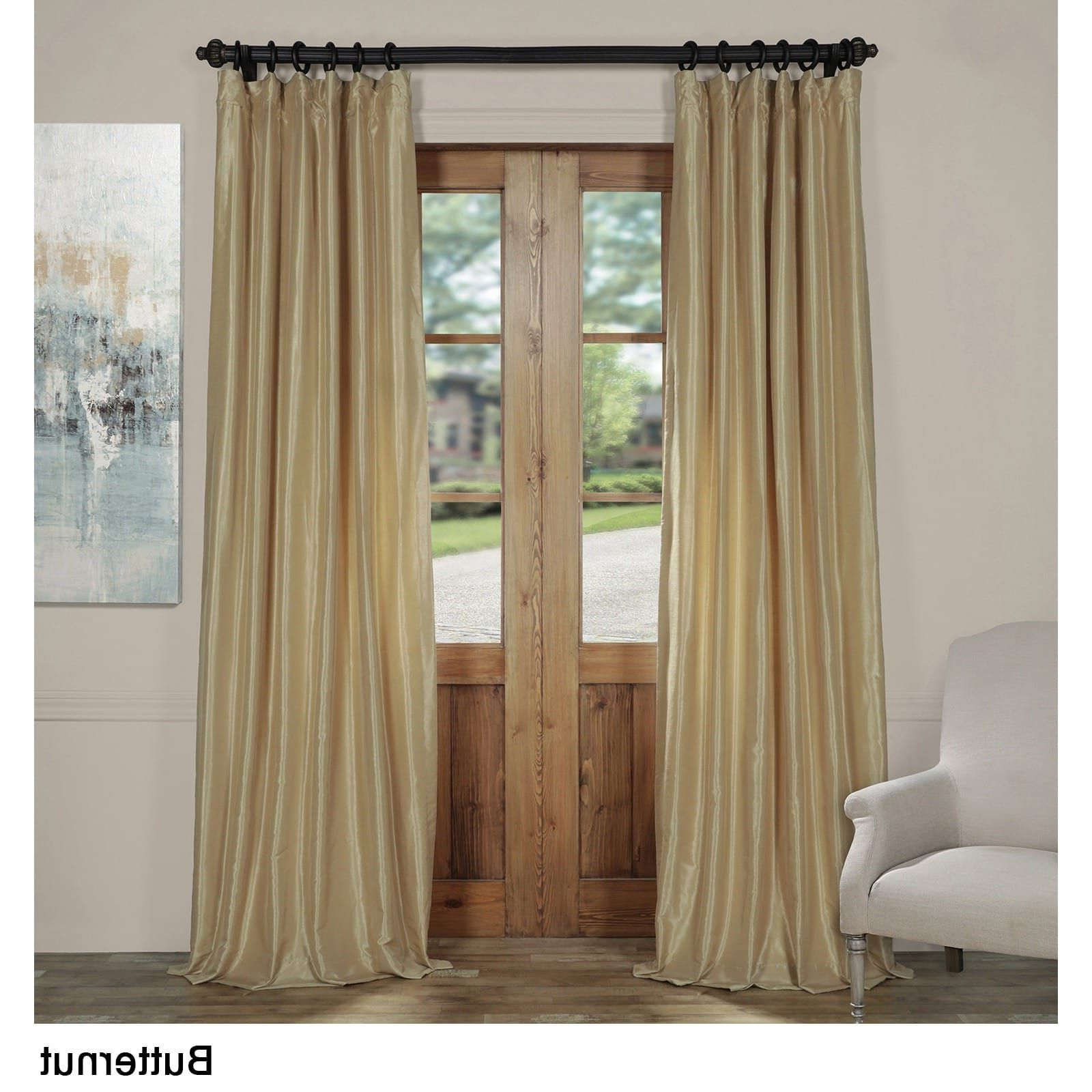Best And Newest Storm Grey Vintage Faux Textured Dupioni Single Silk Curtain Panels With Exclusive Fabrics Vintage Textured Faux Dupioni Silk Curtain (View 20 of 20)