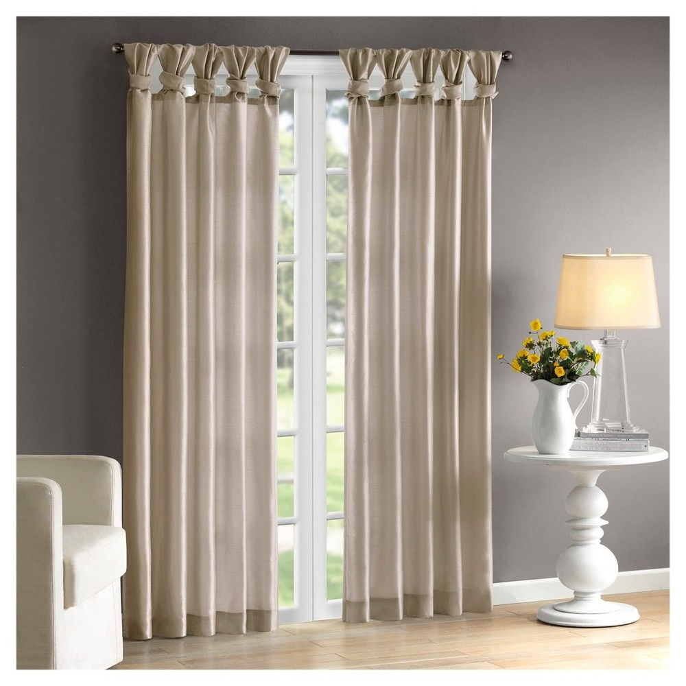 """Best And Newest Twisted Tab Lined Single Curtain Panels Regarding Lillian Twisted Tab Lined Curtain Panel Spice 50""""x (View 13 of 20)"""