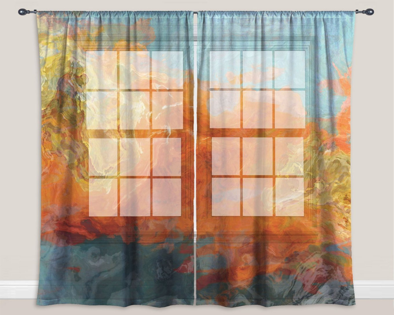 Best And Newest Victory Orange And Teal Curtains – Lionslagospt (View 2 of 20)