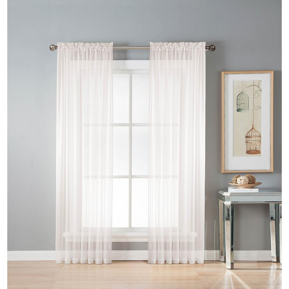 Best And Newest Window Elements Sheer Diamond Sheer Voile Extra Wide 84 In (View 4 of 20)