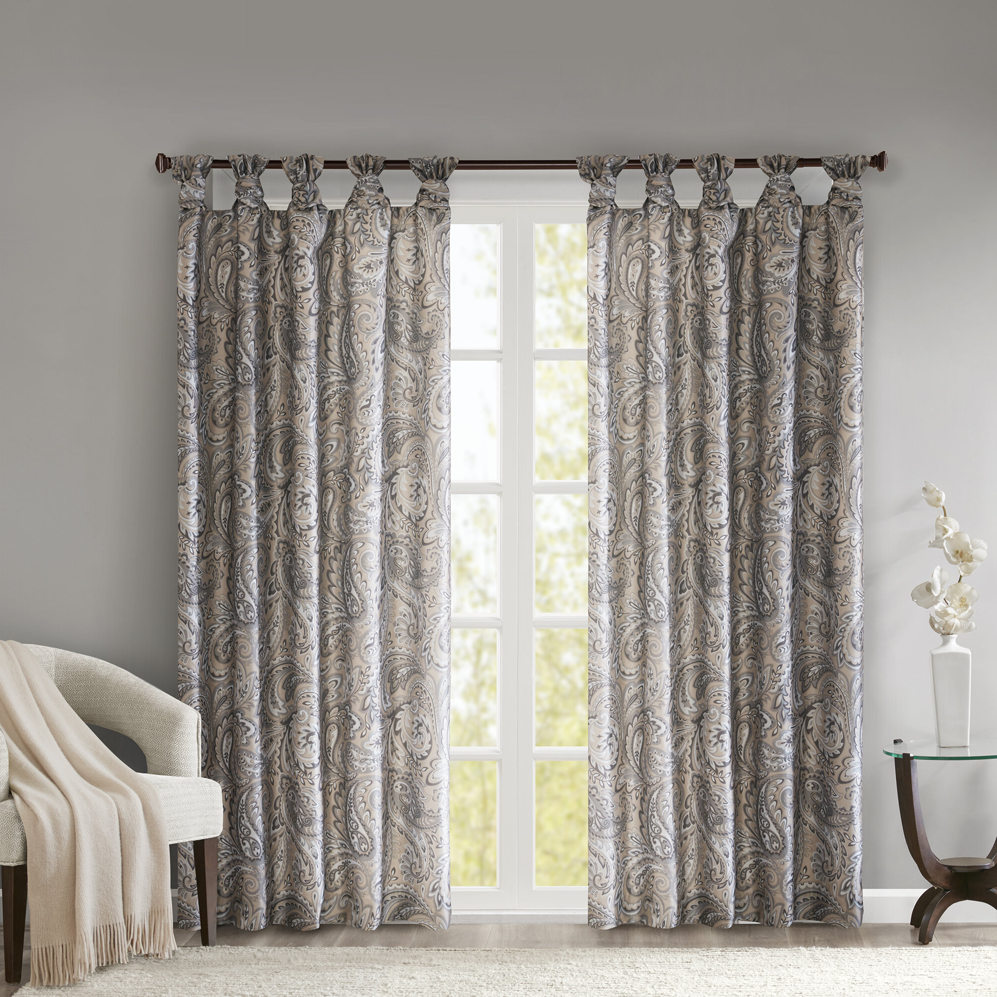 Best Home Decorating Ideas Within Famous Elowen White Twist Tab Voile Sheer Curtain Panel Pairs (View 17 of 20)