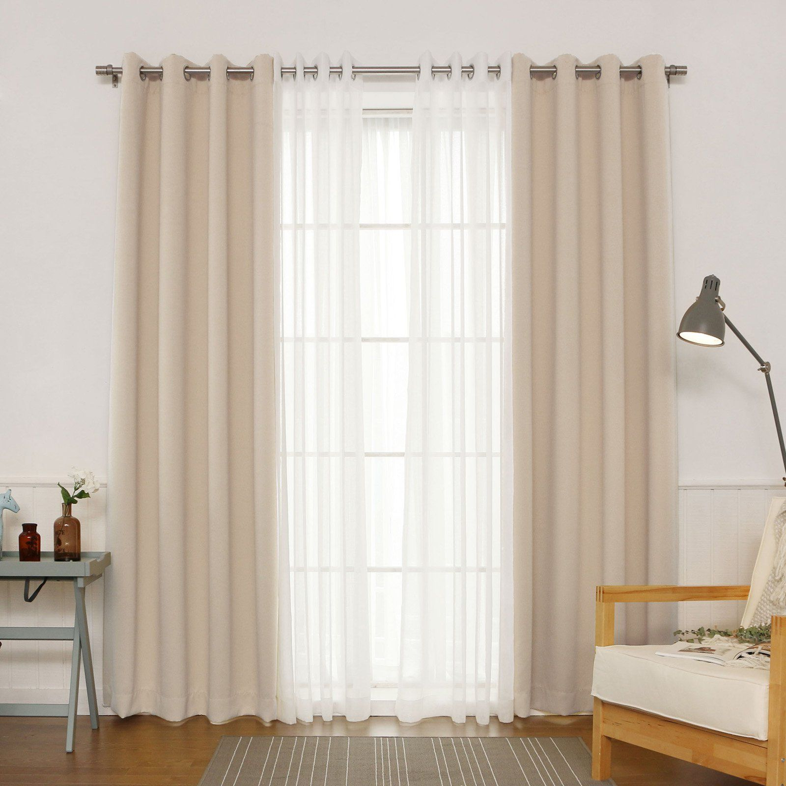 Best Home Fashion Silver Grommet Solid Blackout Mix And Regarding Newest Mix And Match Blackout Blackout Curtains Panel Sets (View 3 of 20)