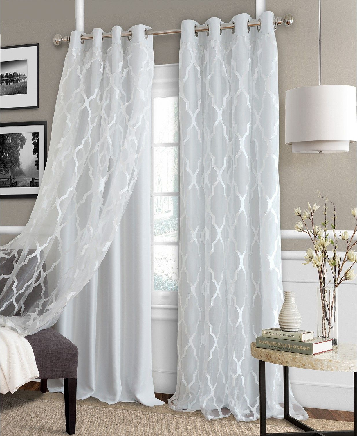 Bethany 52 X 95 Sheer Overlay Blackout Grommet Curtain Panel Within Fashionable Bethany Sheer Overlay Blackout Window Curtains (View 3 of 20)