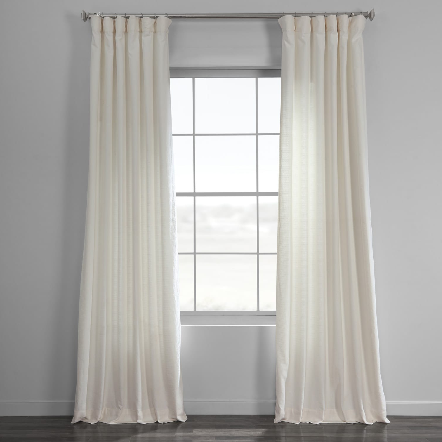 Birch Bark Weave Solid Cotton Curtain With Recent Solid Cotton Pleated Curtains (View 13 of 20)