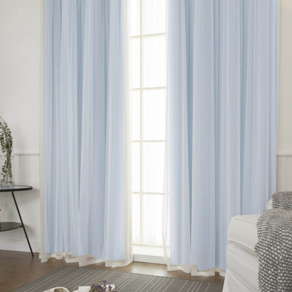 Blackout Curtains Panel Set 4pcs Aurora Home Mix & Match Intended For Most Recent Mix And Match Blackout Blackout Curtains Panel Sets (View 13 of 20)
