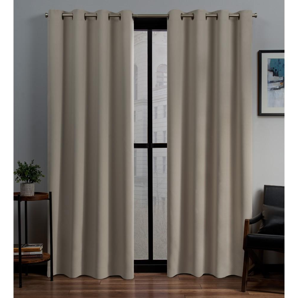 Blackout Grommet Curtain Panels With Most Recently Released Exclusive Home Curtains Sateen 52 In. W X 108 In (View 7 of 20)