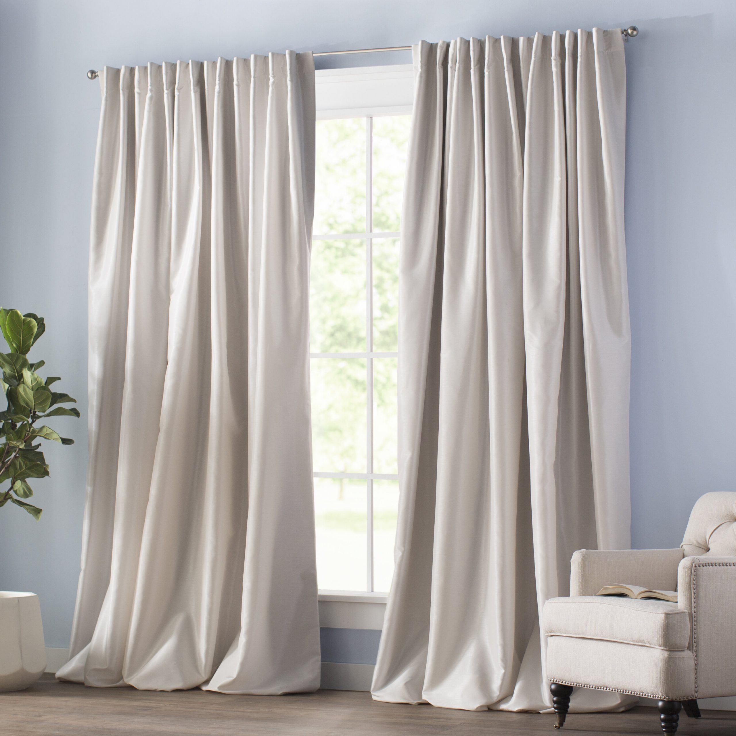 Blackout Rod Pocket Curtain Panels Inside Most Popular Velvet Dream Silver Curtain Panel Pairs (View 10 of 20)