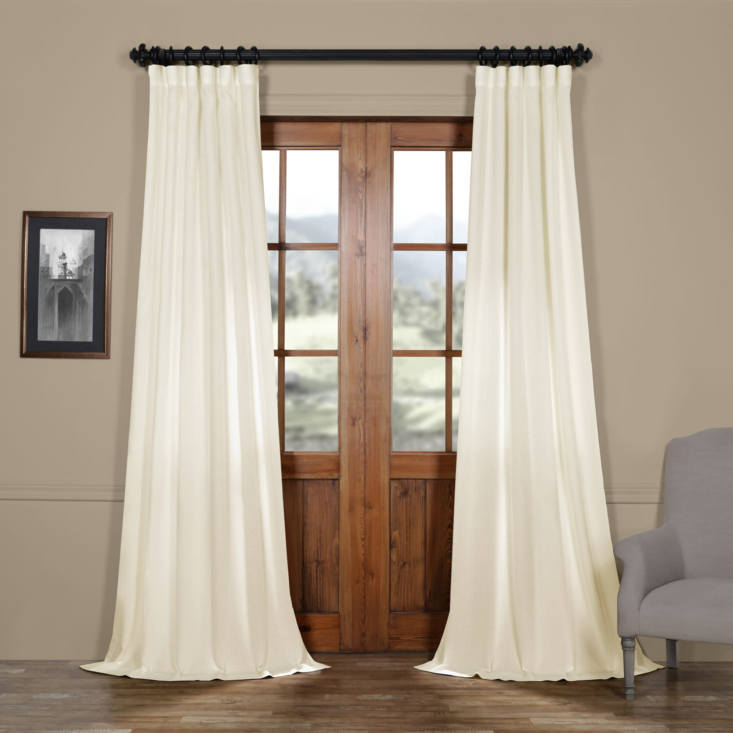 Brittnie Faux Linen Solid Semi Sheer Rod Pocket Single Curtain Panel Throughout Famous Ombre Faux Linen Semi Sheer Curtains (View 5 of 20)