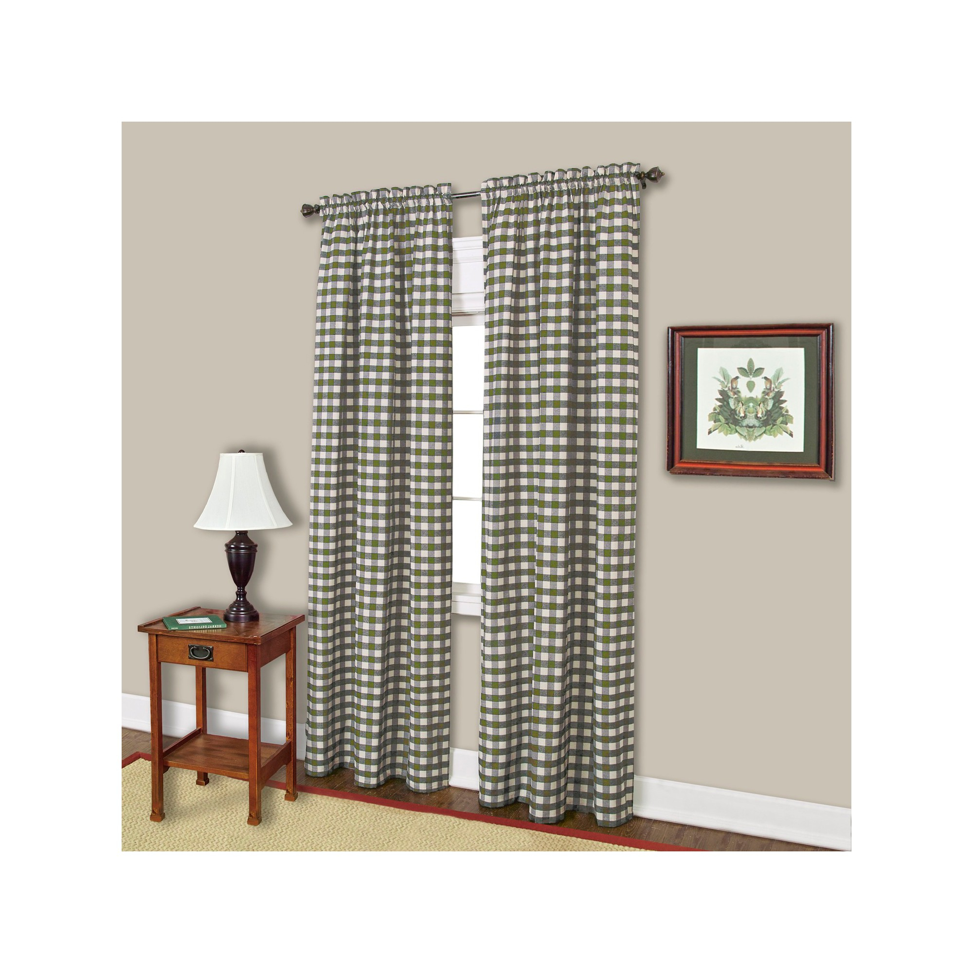 """Buffalo Check Curtain Panel – Sage (42"""" X 84""""), Green With Regard To Well Known Grainger Buffalo Check Blackout Window Curtains (View 11 of 20)"""