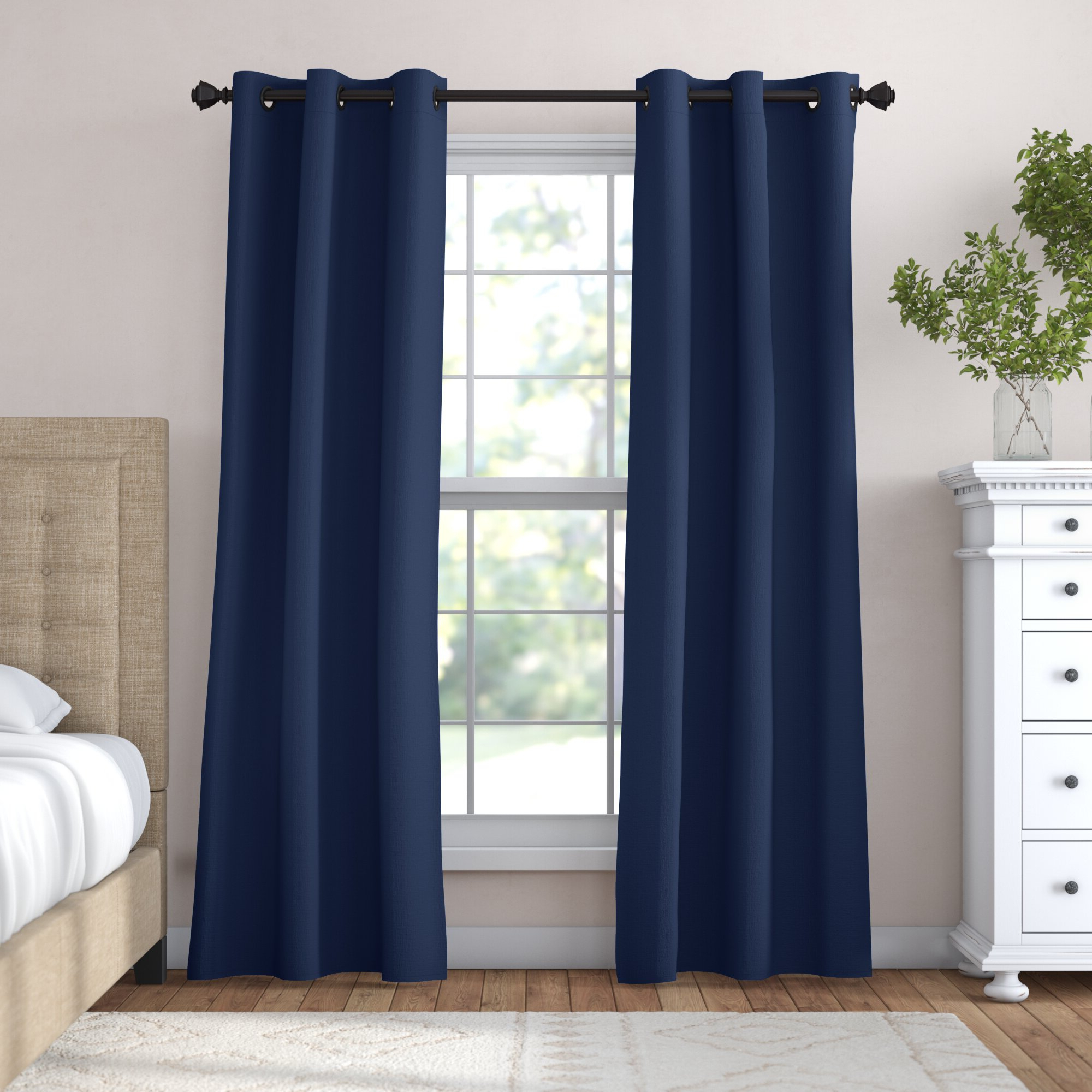 Candler Absolute Solid Max Blackout Grommet Curtain Panels For Fashionable Riley Kids Bedroom Blackout Grommet Curtain Panels (View 14 of 20)