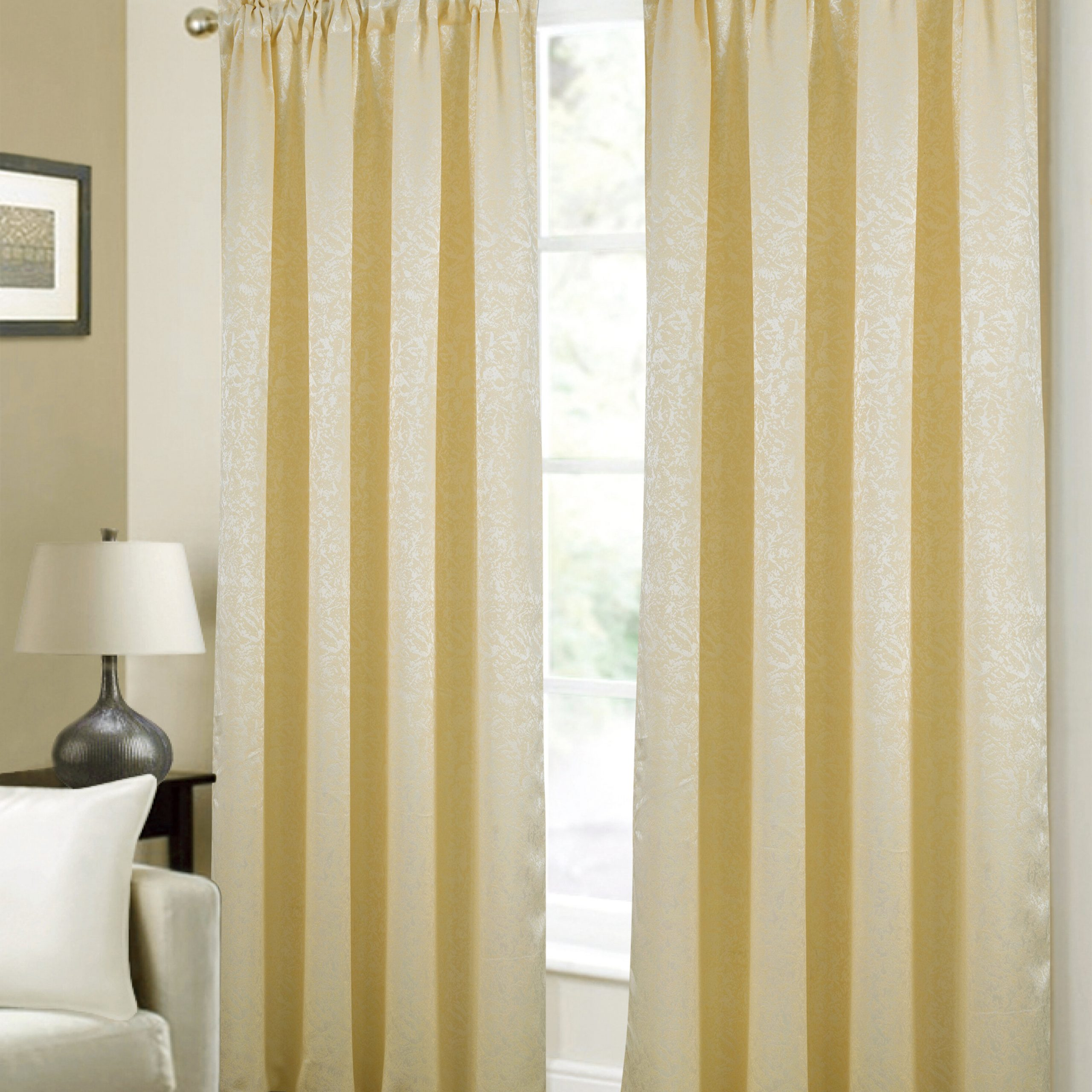 Capel Textured Jacquard Abstract Semi Sheer Rod Pocket Curtain Panels In 2021 Abstract Blackout Curtain Panel Pairs (View 14 of 20)