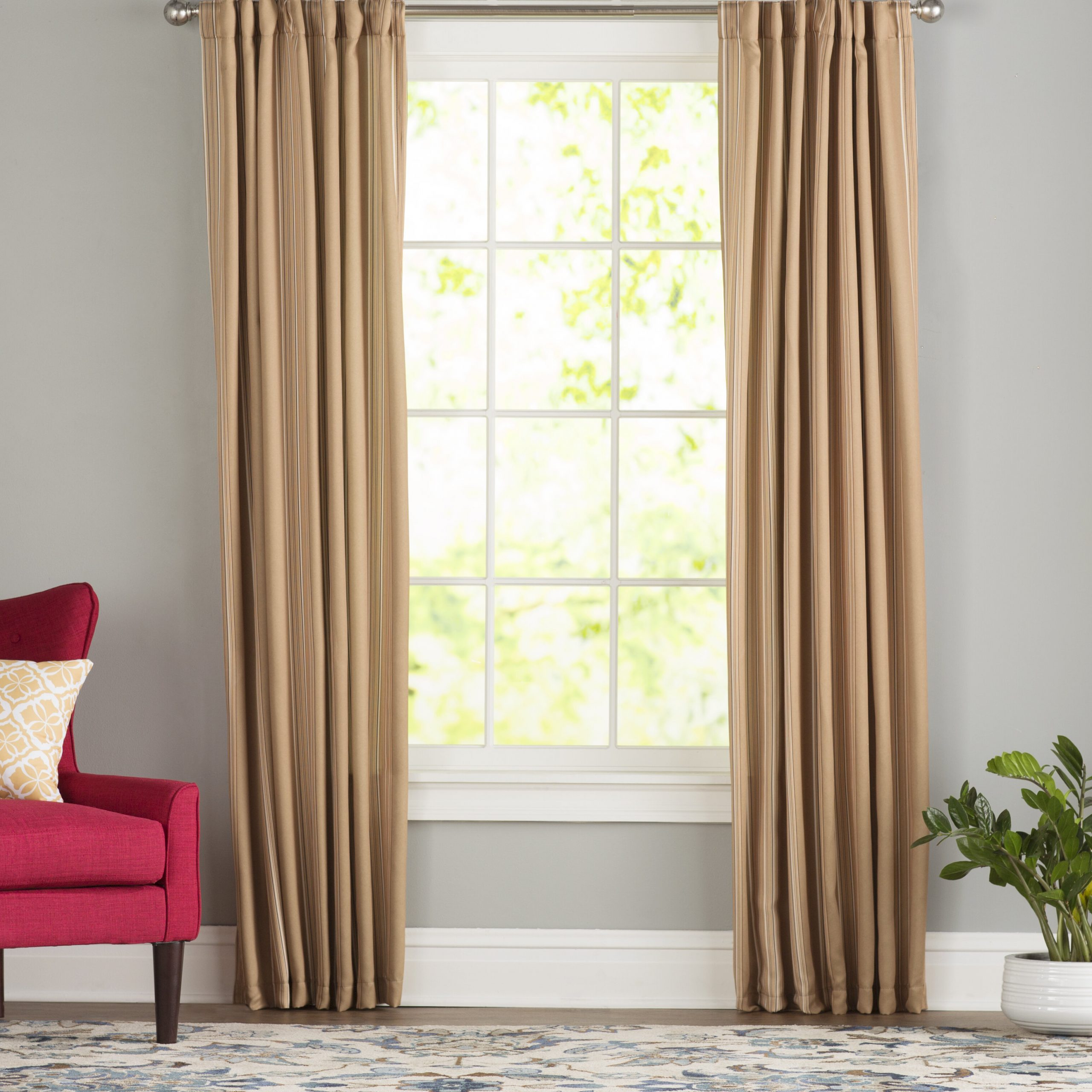 Cheesman Striped Room Darkening Thermal Rod Pocket Curtain Panels For Latest Dolores Room Darkening Floral Curtain Panel Pairs (View 18 of 20)