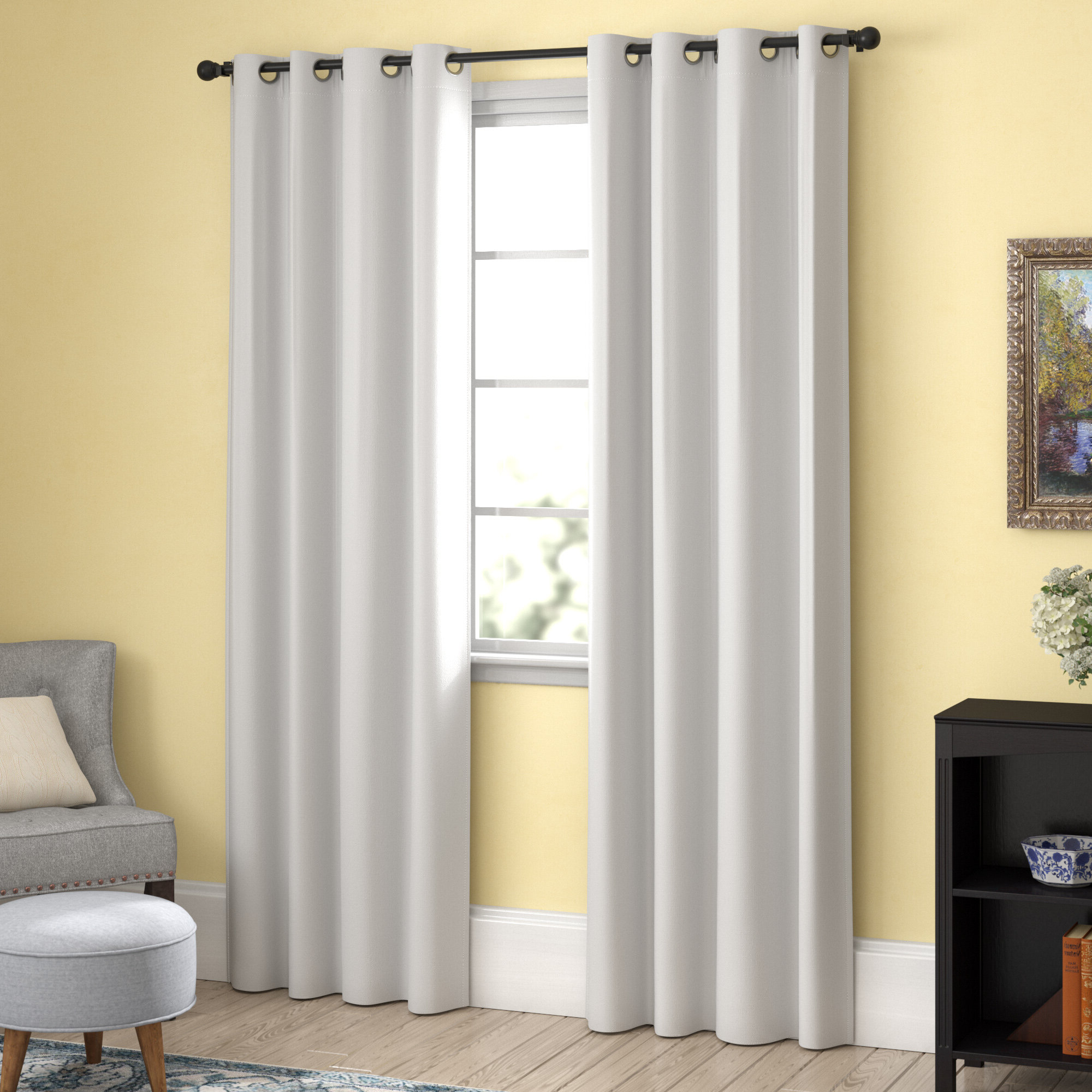 Chet Insulated Lined Solid Blackout Thermal Grommet Curtain Panels Throughout Preferred Duran Thermal Insulated Blackout Grommet Curtain Panels (View 15 of 21)