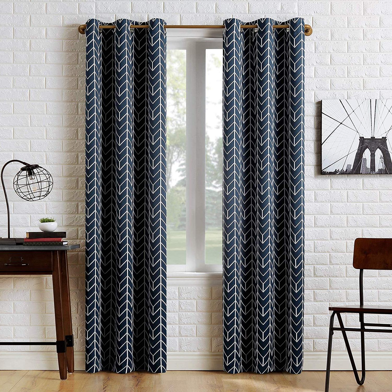 Featured Photo of Chevron Blackout Grommet Curtain Panels