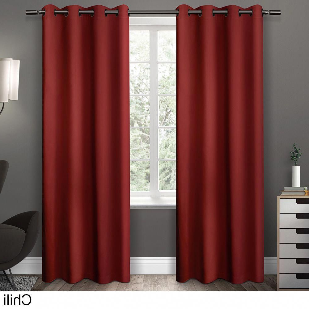 Clay Alder Home Mcclugage Sateen Twill Weave Insulated Pertaining To Fashionable Sateen Twill Weave Insulated Blackout Window Curtain Panel Pairs (View 5 of 20)