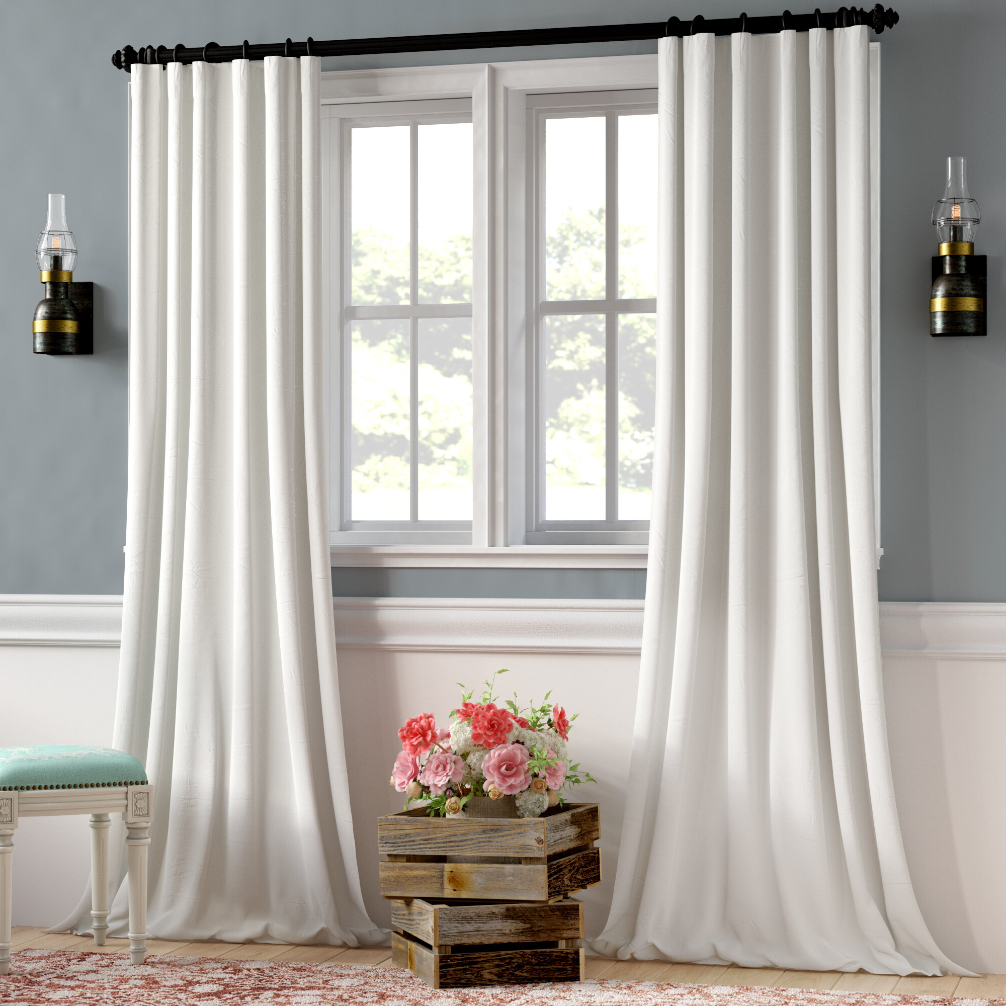 Clem Faux Linen Blackout Single Curtain Panel Within Most Up To Date Faux Linen Blackout Curtains (View 6 of 20)