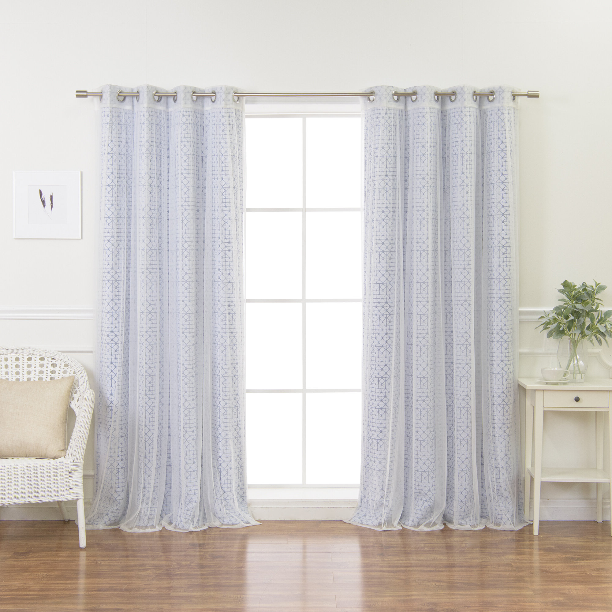 Connolly Tulle And Diamond Shibori Mix And Match Geometric Blackout Thermal Grommet Curtain Panels Regarding Favorite Mix And Match Blackout Blackout Curtains Panel Sets (View 18 of 20)