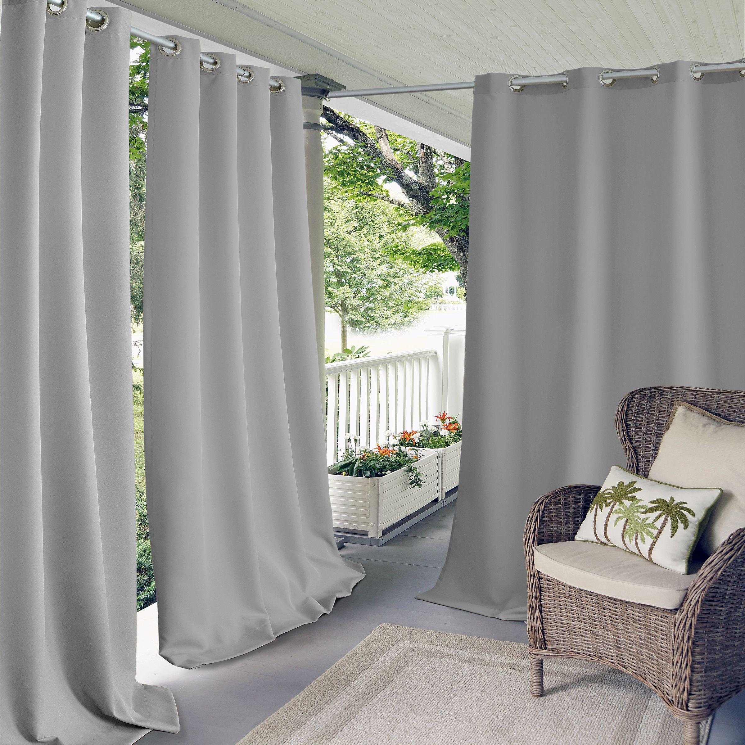 Connor Solid Grommet Top Indoor/outdoor Window Curtain In In 2020 Davis Patio Grommet Top Single Curtain Panels (View 4 of 20)