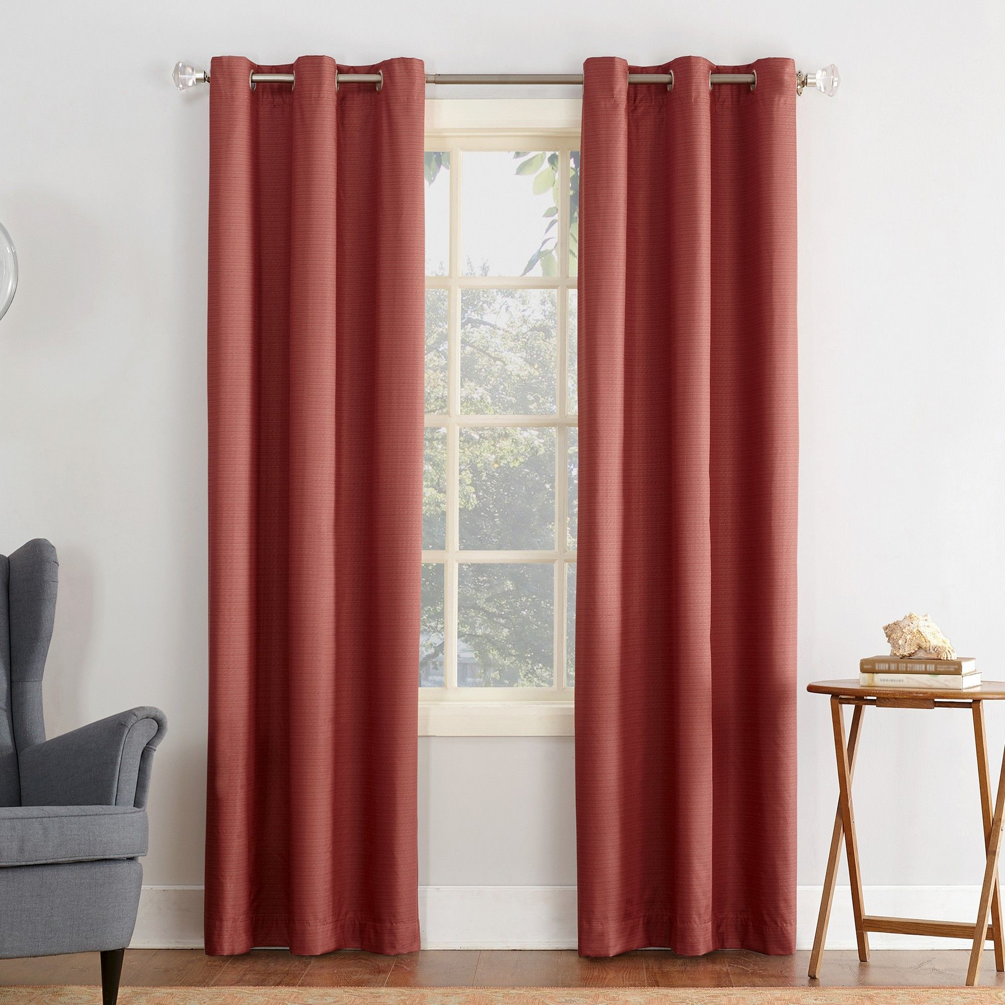 Cooper Textured Thermal Insulated Grommet Curtain Panels For Fashionable Cooper Textured Thermal Insulated Grommet Curtain Panel Gray (View 6 of 20)