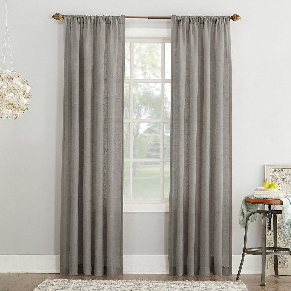 Cooper Textured Thermal Insulated Grommet Curtain Panels In Trendy No (View 3 of 20)