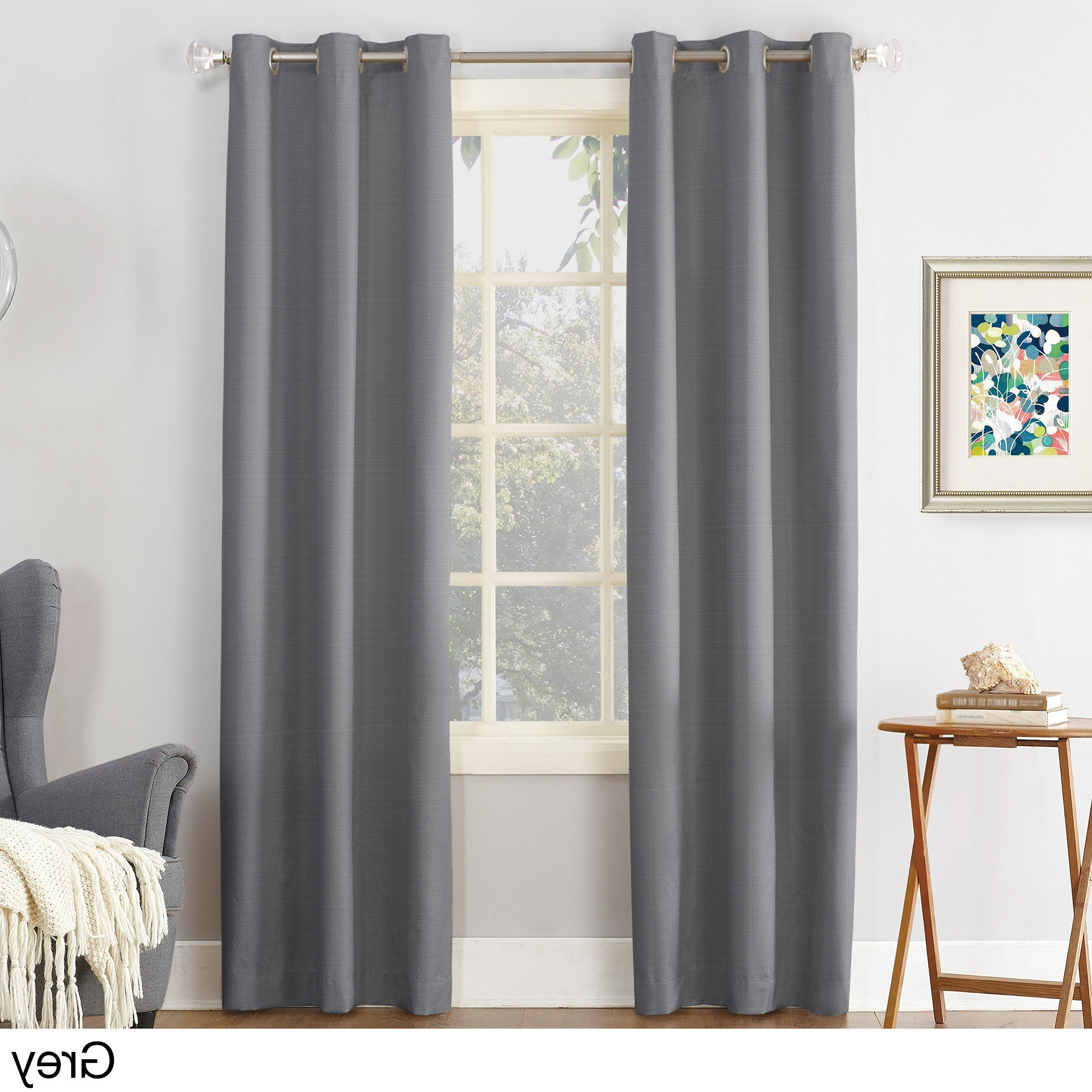 Cooper Textured Thermal Insulated Grommet Curtain Panels Pertaining To 2021 Sun Zero Cooper Textured Thermal Insulated Grommet Curtain Panel (View 5 of 20)