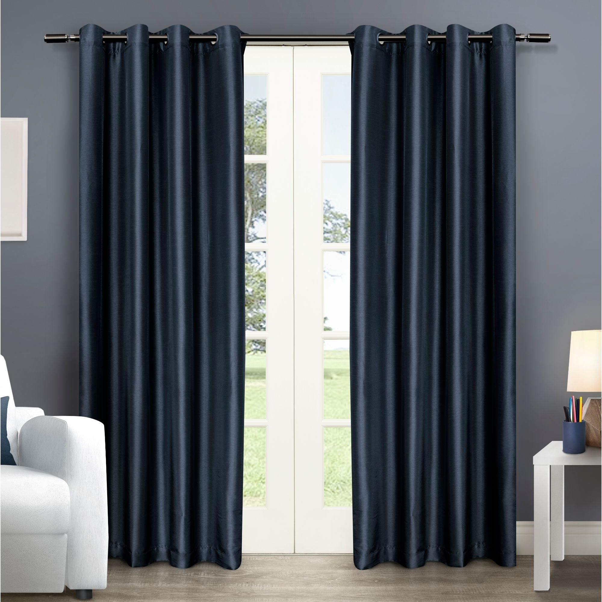 Copper Grove Fulgence Faux Silk Grommet Top Panel Curtains For Fashionable Copper Grove Fulgence Faux Silk Grommet Top Panel Curtains – N/ A (View 2 of 20)