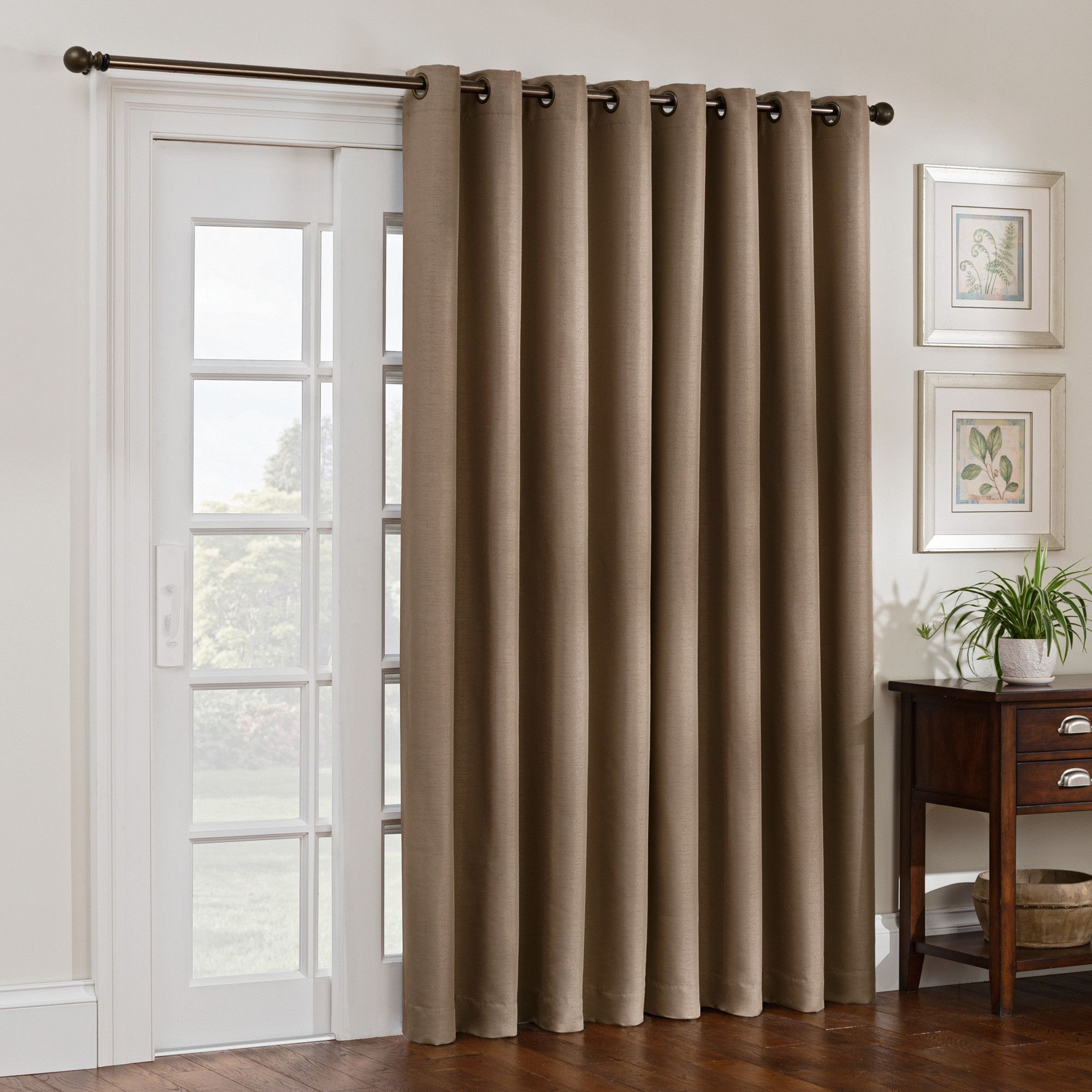 Copper Grove Fulgence Faux Silk Grommet Top Panel Curtains Intended For Most Popular Solid Blackout Grommet Single Curtain Panel (View 15 of 20)