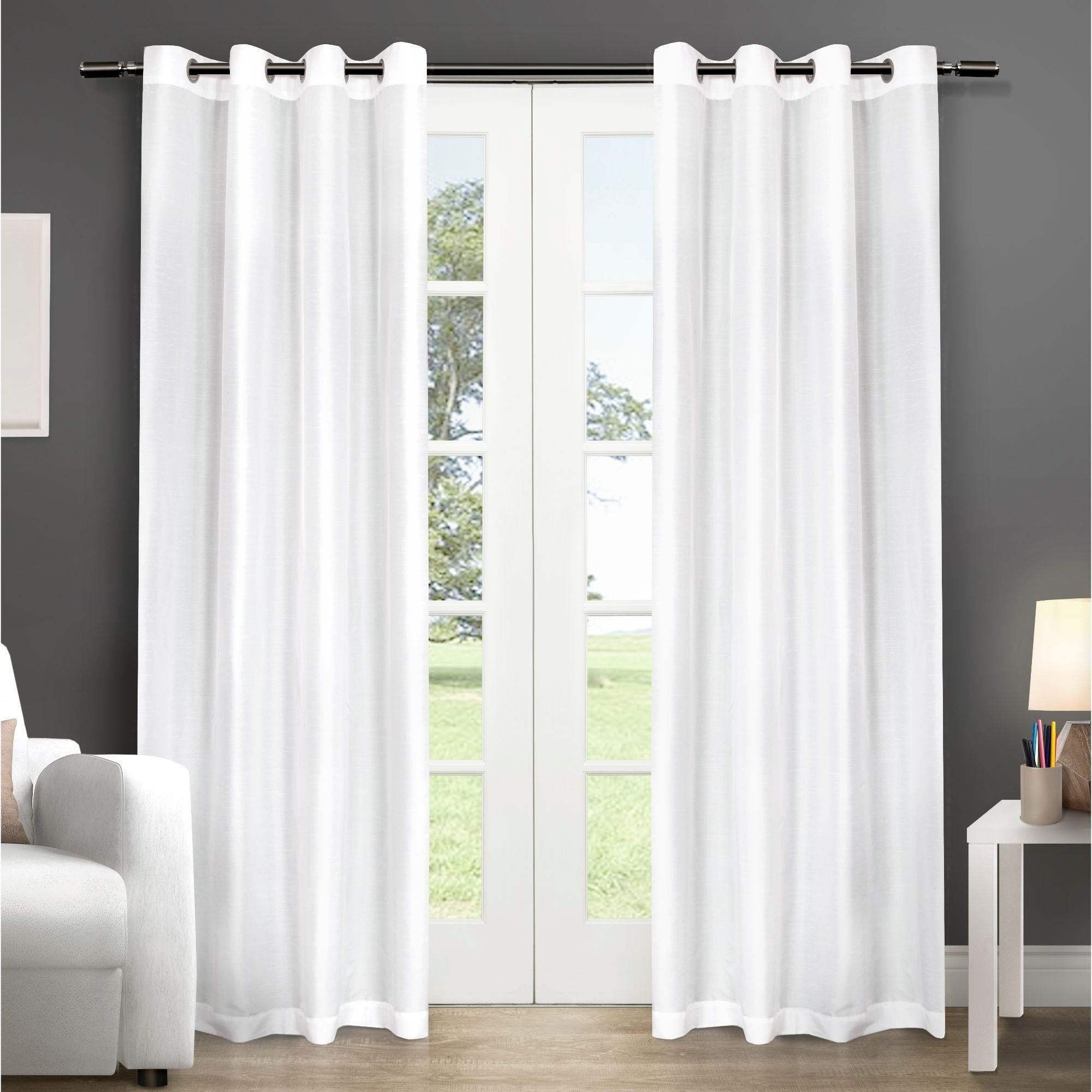 Copper Grove Fulgence Faux Silk Grommet Top Panel Curtains – N/ A Throughout Well Known Copper Grove Fulgence Faux Silk Grommet Top Panel Curtains (View 5 of 20)