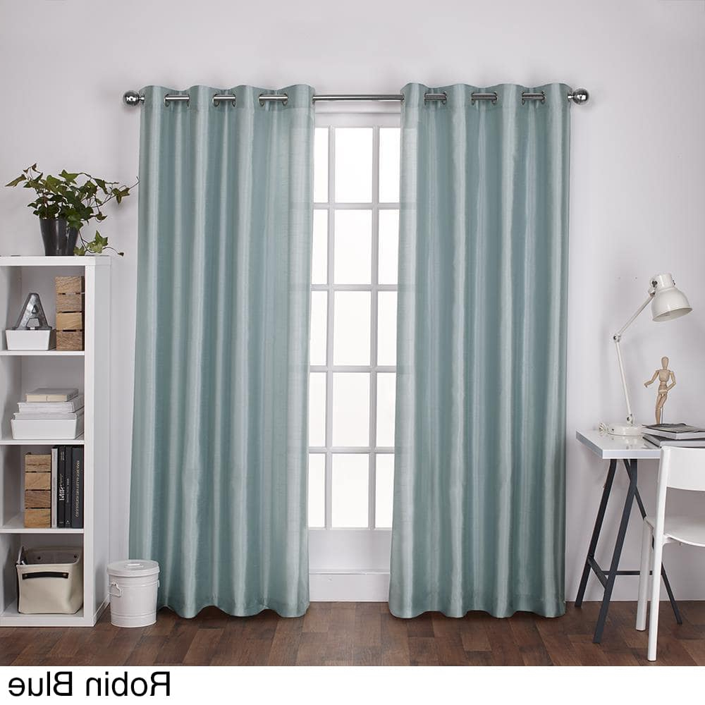 Copper Grove Fulgence Faux Silk Grommet Top Panel Curtains Regarding Well Known Ati Home Chatra Faux Silk Grommet Top Panel Curtains (View 11 of 20)