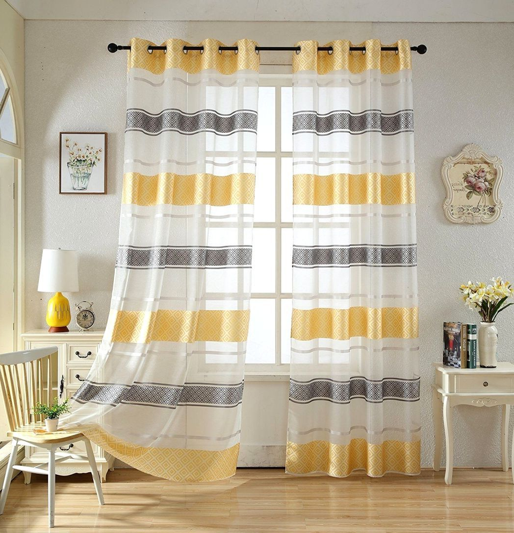 Copper Grove Speedwell Grommet Window Curtain Panels With Regard To Best And Newest Comfort Yellow Grommet Curtains – Thomasjordi (View 9 of 20)