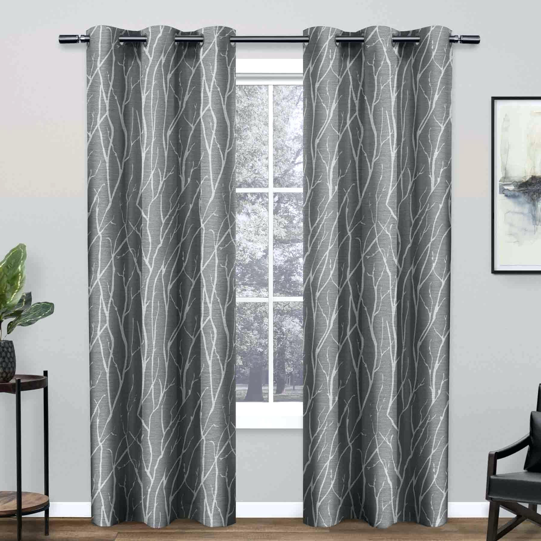 Copper Grove Speedwell Grommet Window Curtain Panels With Widely Used Gray Grommet Curtains – Crafttea (View 10 of 20)
