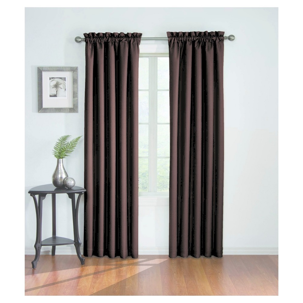 "Corinne Blackout Curtain Brown (42""x84"") – Eclipse Regarding Well Known Eclipse Corinne Thermaback Curtain Panels (View 10 of 20)"