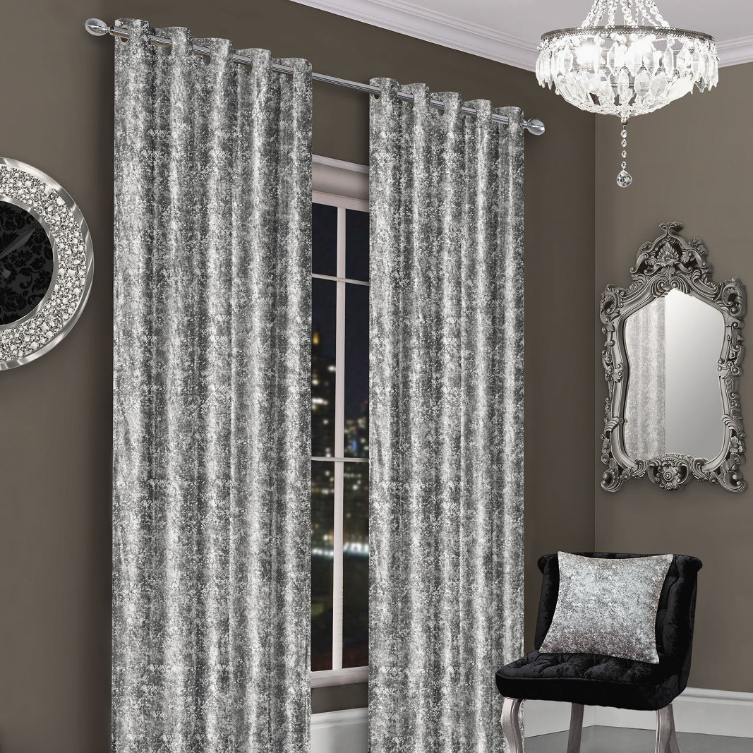 Crushed Velvet Curtains In Well Known Velvet Dream Silver Curtain Panel Pairs (View 20 of 20)