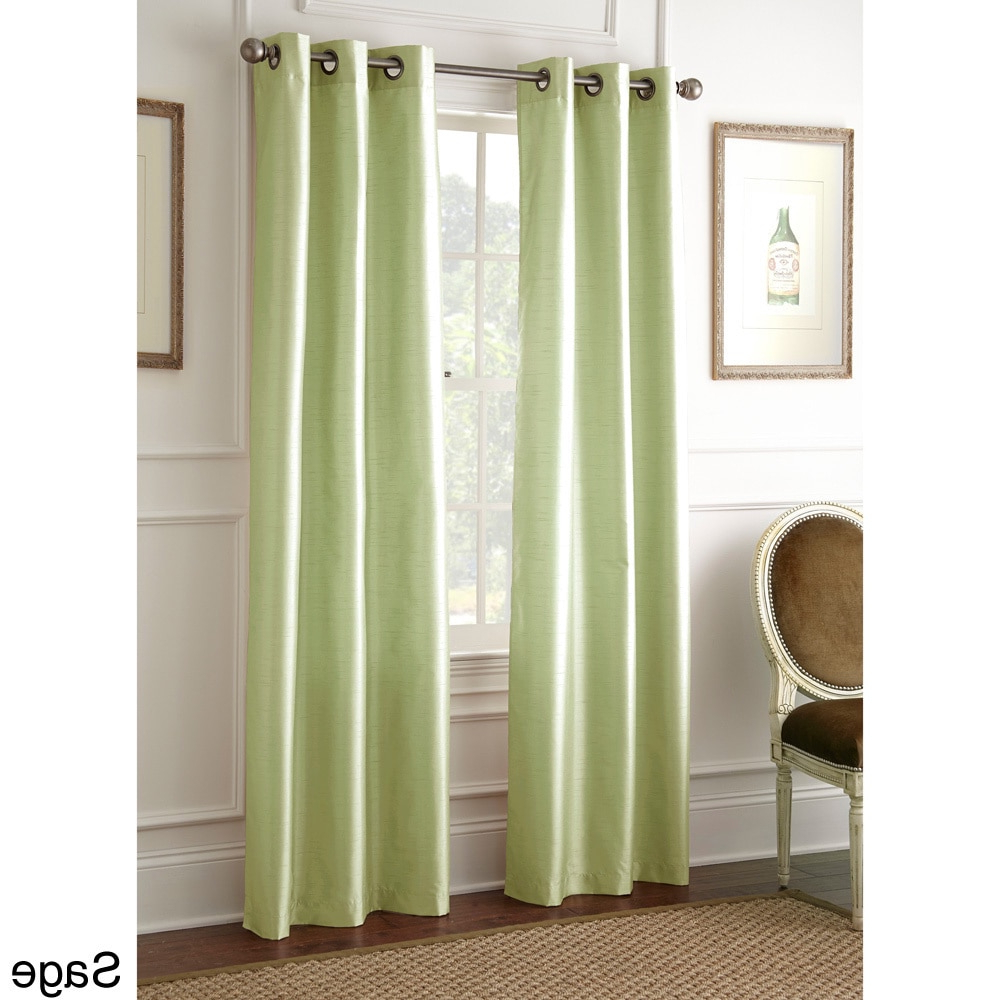 Current Amrapur Overseas Inc Faux Silk 84 Inch Blackout Curtain Within Overseas Faux Silk Blackout Curtain Panel Pairs (View 5 of 20)