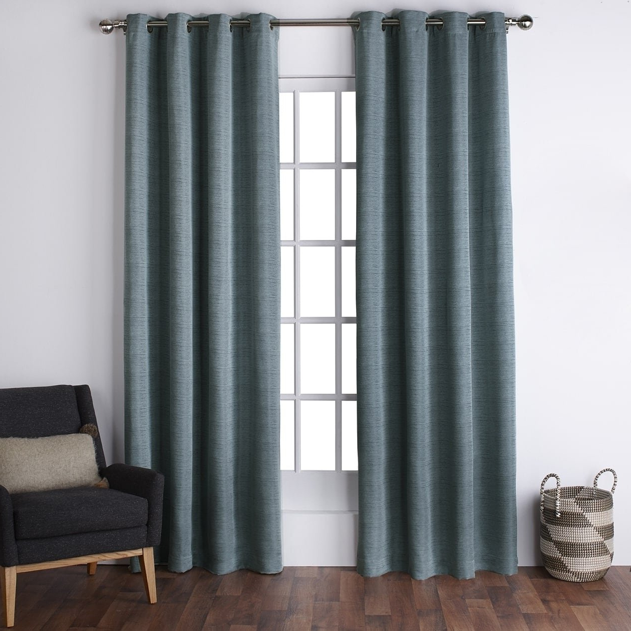 Current Ati Home Copper Grove Ashclyst Faux Silk Grommet Top Window With Regard To Copper Grove Fulgence Faux Silk Grommet Top Panel Curtains (View 6 of 20)