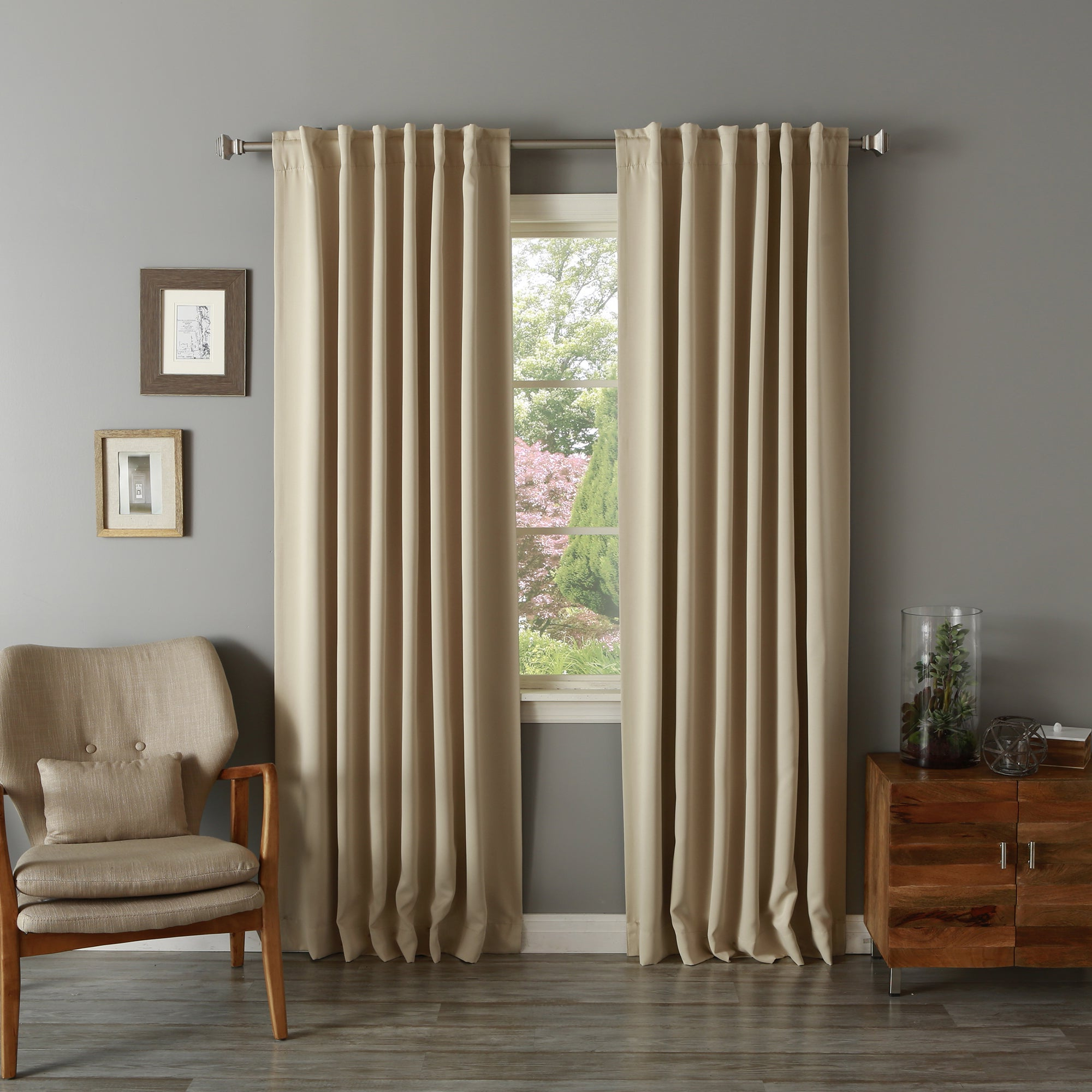 Current Aurora Home Solid Insulated Thermal Blackout Long Length Curtain Panel Pair Pertaining To Solid Insulated Thermal Blackout Long Length Curtain Panel Pairs (View 2 of 20)