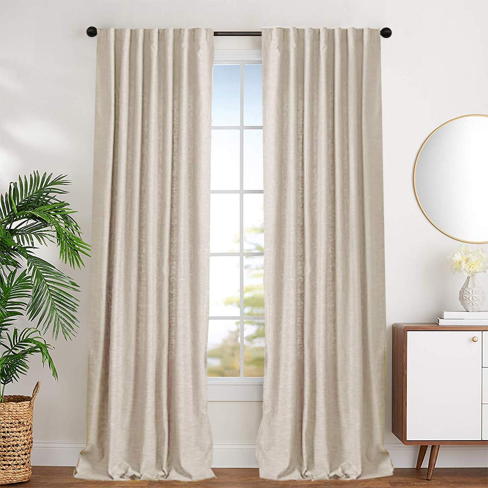 Current Beige Cotton Curtains For Bedroom Solid Cotton Curtains 72 Inches Long Window Curtain Panels For Living Room Rod Pocket, 2 Panels Inside Solid Cotton Curtain Panels (View 2 of 20)