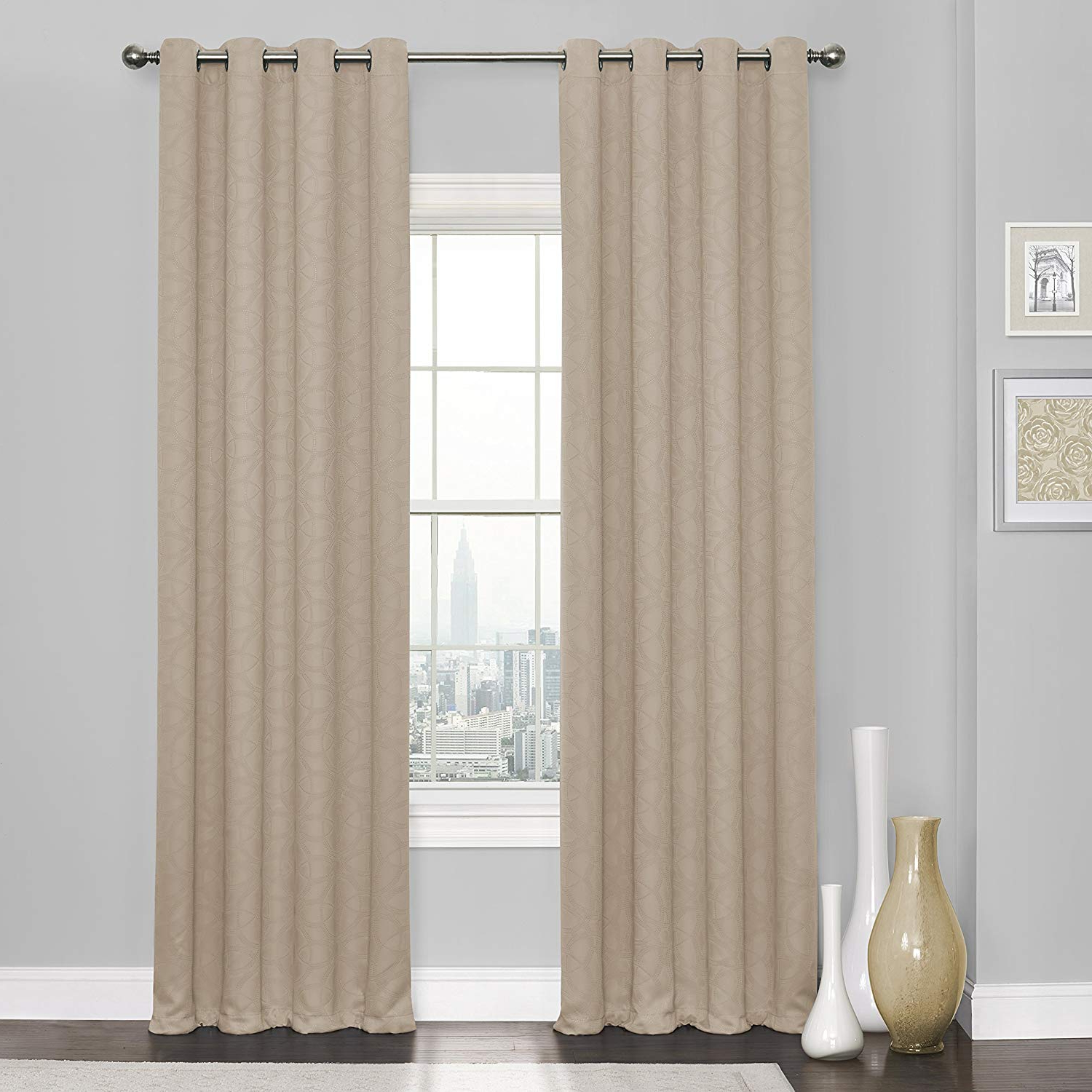 "Current Eclipse Kingston Thermaweave Blackout Curtains Panels, 52"" X 84"", Natural With Regard To Thermaweave Blackout Curtains (View 1 of 20)"