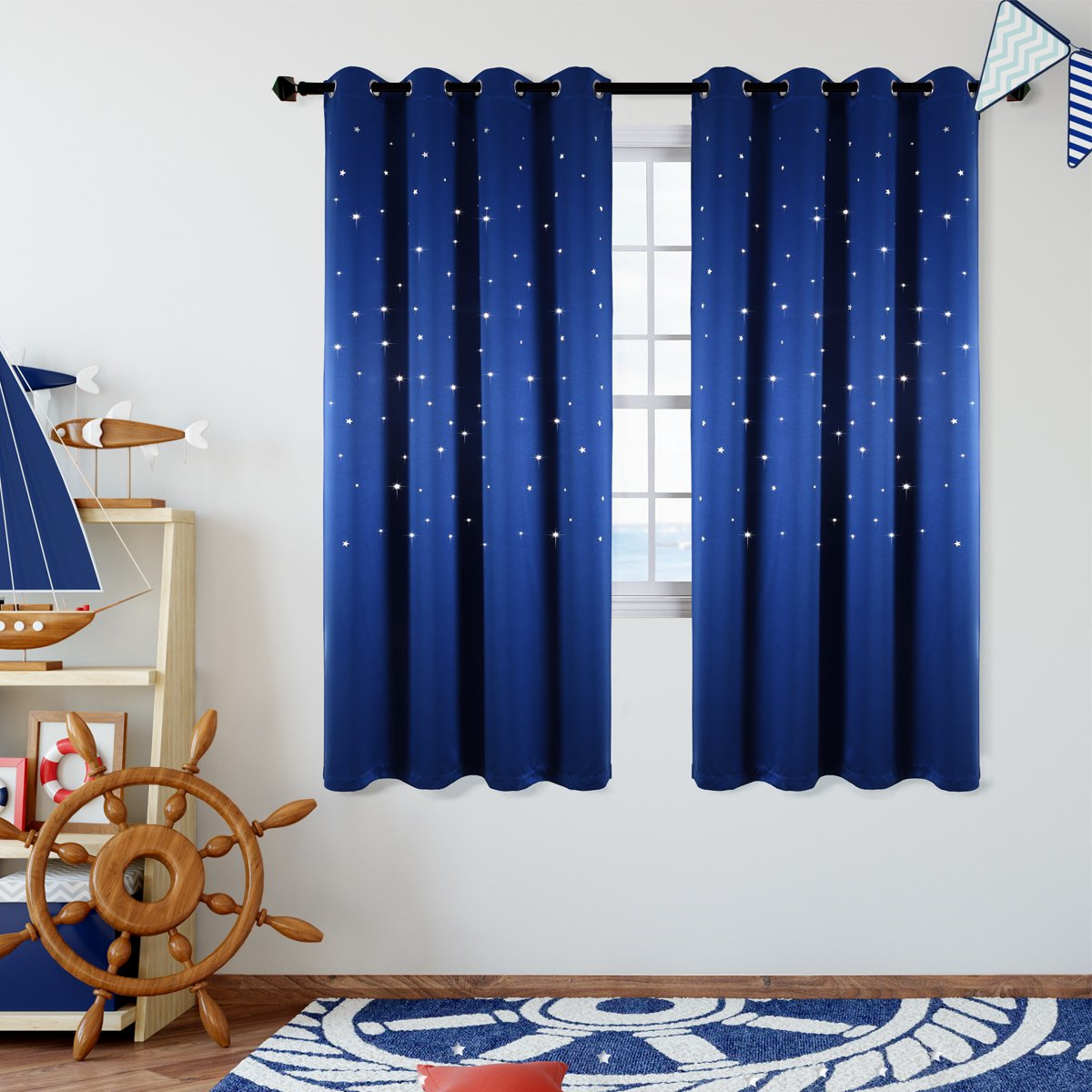 Current Elrene Aurora Kids Room Darkening Layered Sheer Curtains With Kids Room Blackout Curtains (View 16 of 20)