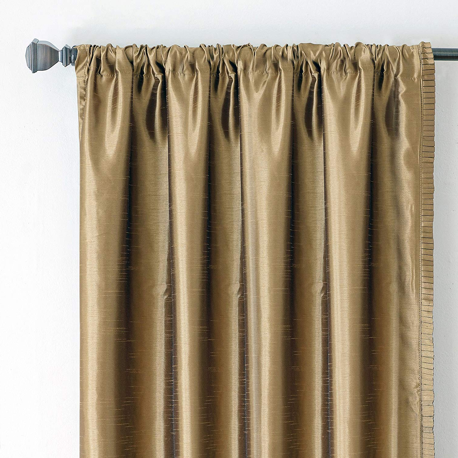 "Current Elrene Versailles Pleated Blackout Curtain Panels In Elrene Home Fashions Versailles Faux Silk Room Darkening & Energy Efficient Lined Rod Pocket Window Curtain Drape Pleated Solid Panel, 52"" X 84"" (1), (View 8 of 20)"