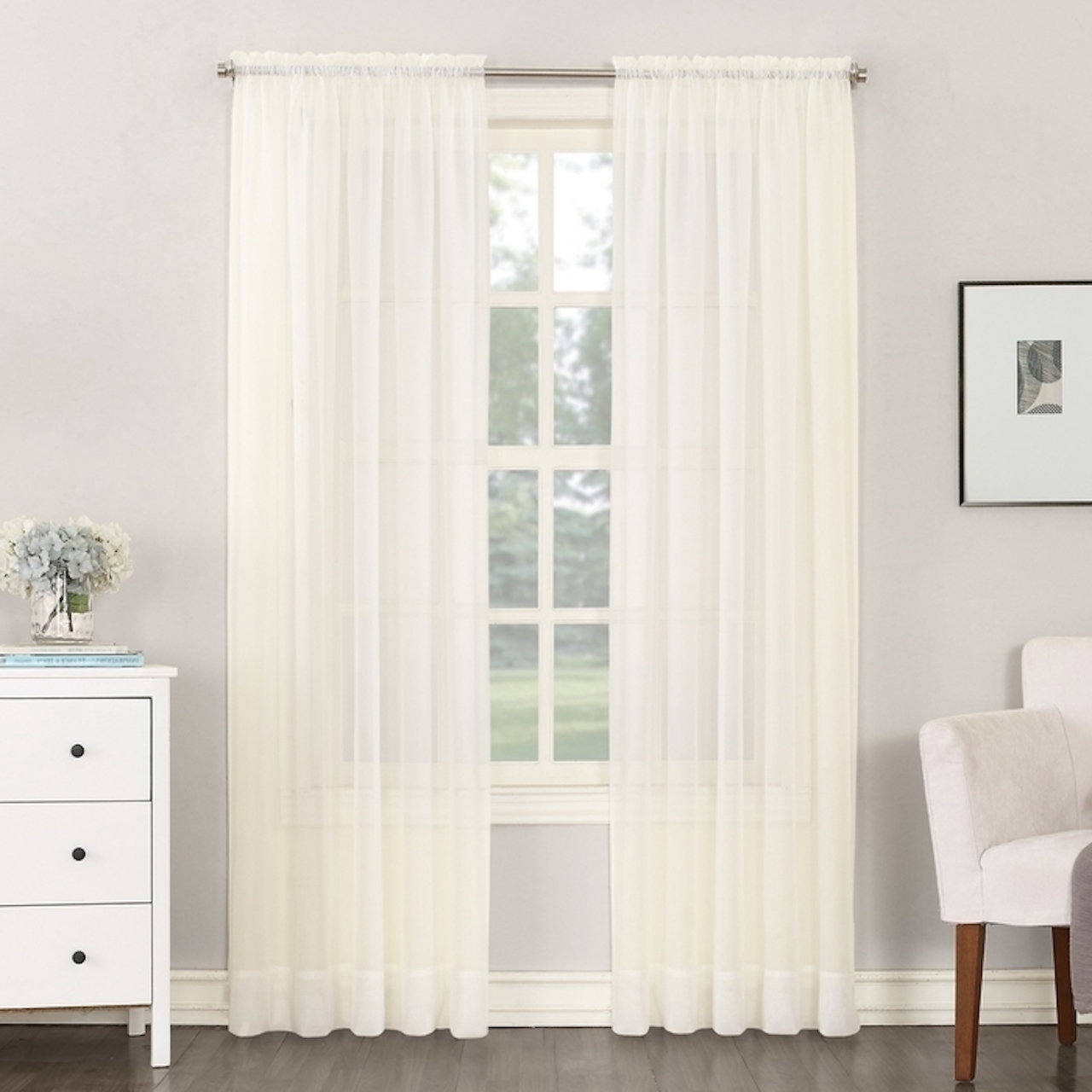 Current Emily Sheer Voile Grommet Curtain Panels In Emily Sheer Voile No (View 17 of 20)