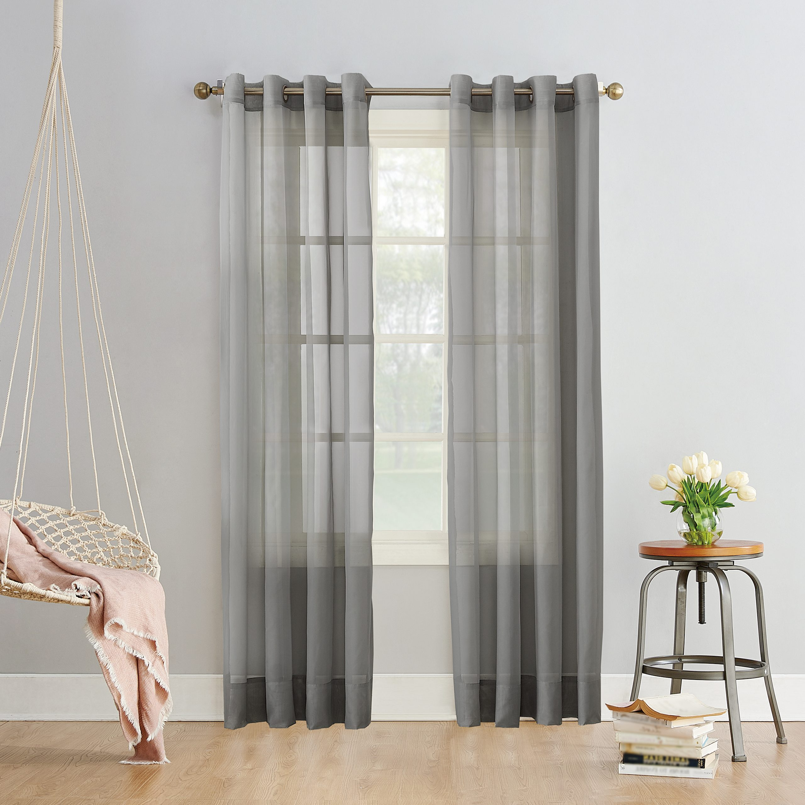Current Emily Sheer Voile Single Curtain Panels With No (View 19 of 20)