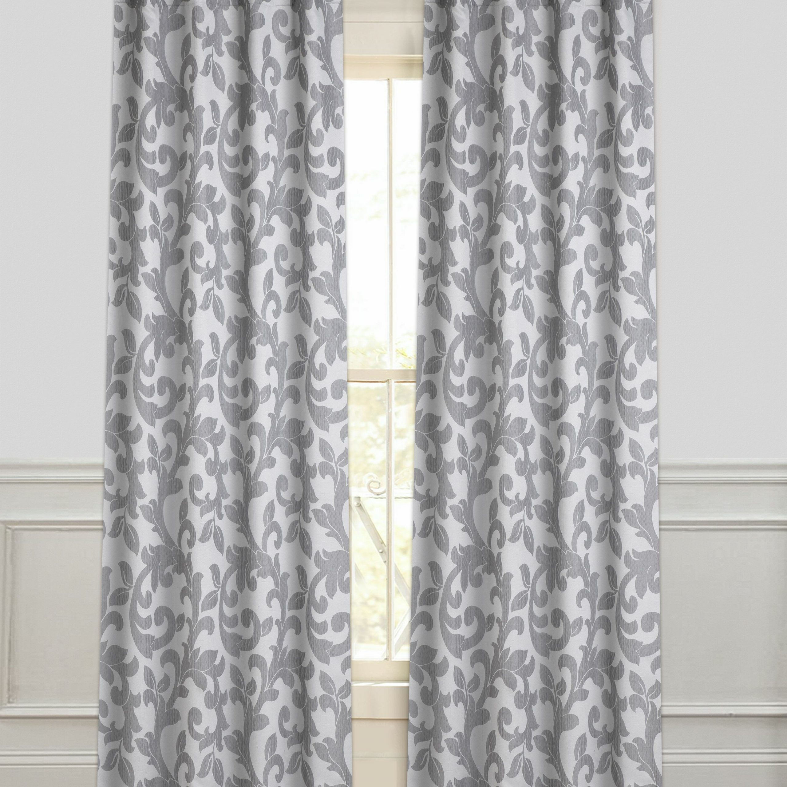 Current Floral Pattern Room Darkening Window Curtain Panel Pairs Throughout Anika Floral Room Darkening Rod Pocket Curtain Panel Pair (View 7 of 20)