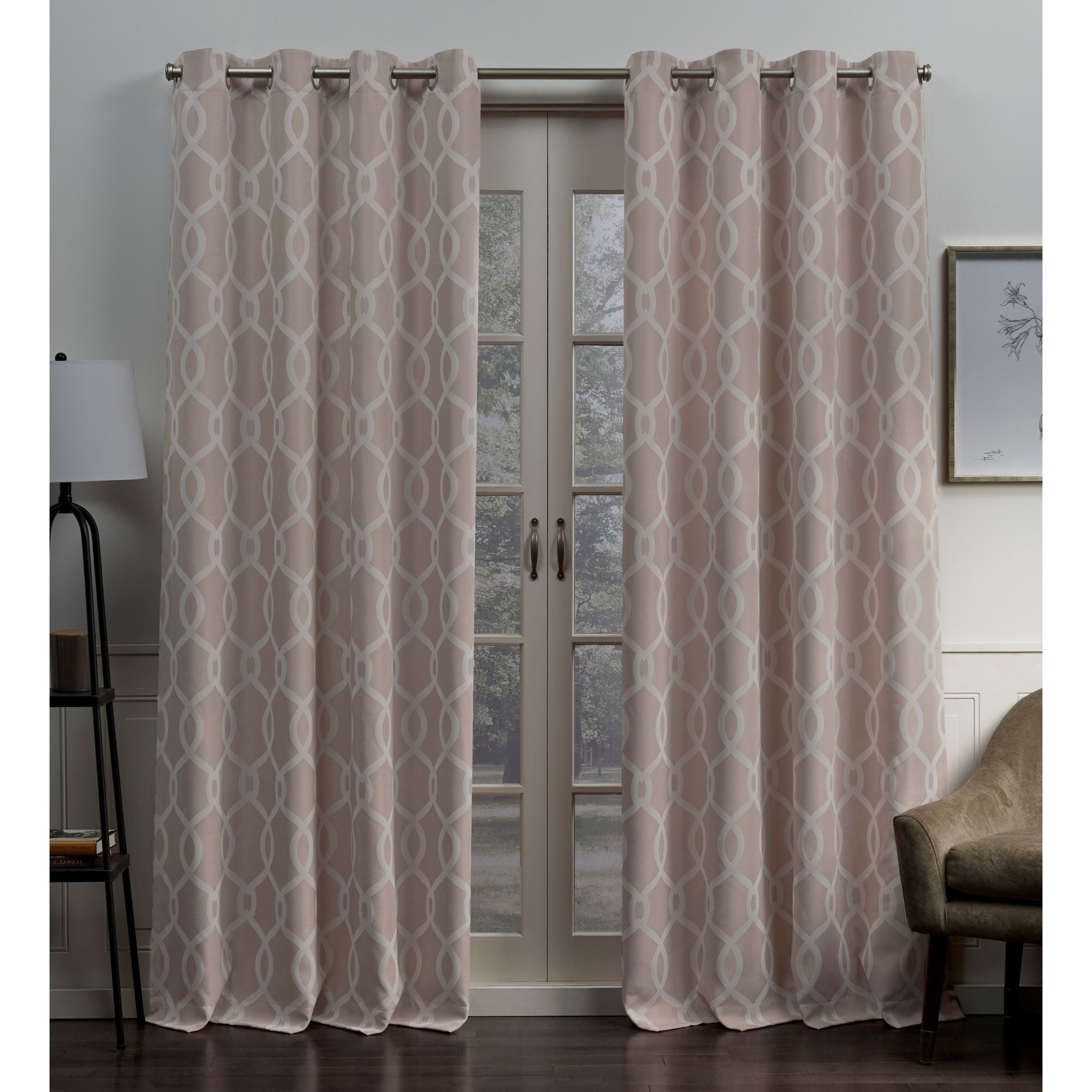 Current Forest Hill Woven Blackout Grommet Top Curtain Panel Pairs Within Ati Home Trilogi Woven Blackout Grommet Top Curtain Panel Pair (View 11 of 20)