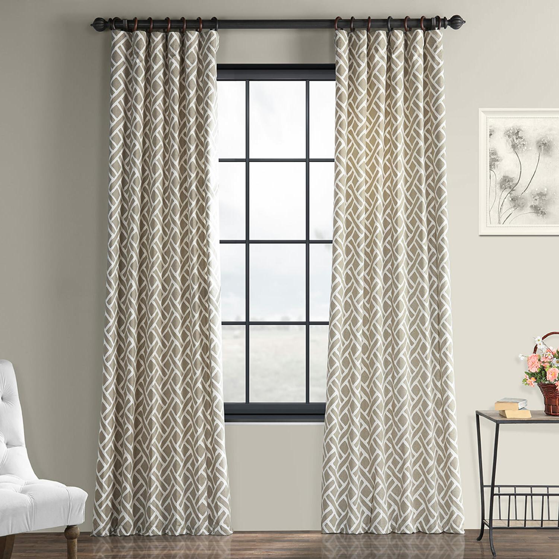 Current Geometric Linen Room Darkening Window Curtains In Berumen Geometric Room Darkening Rod Pocket Single Curtain Panel (View 12 of 20)