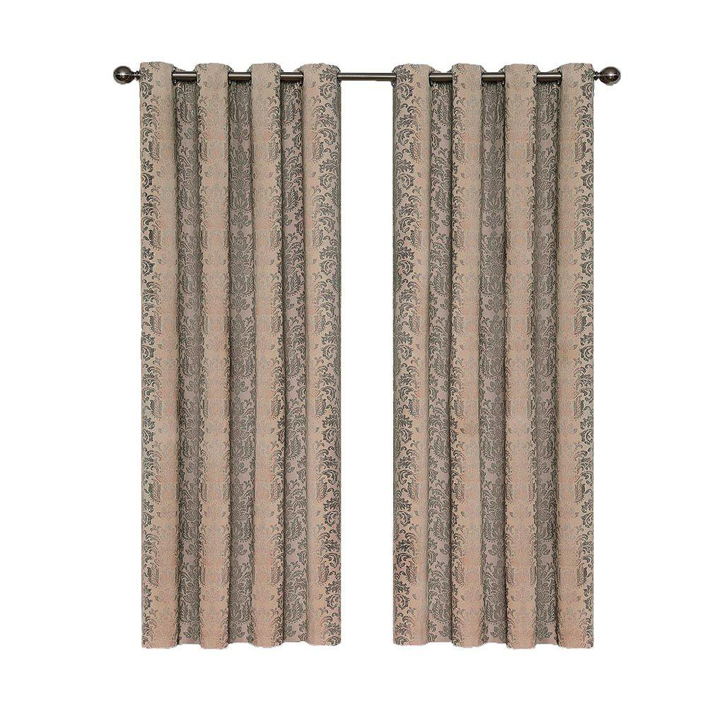 Current Hayden Grommet Blackout Single Curtain Panels For Eclipse Nadya Print Blackout Window Curtain Panel In Linen – 52 In. W X 84 In (View 17 of 20)