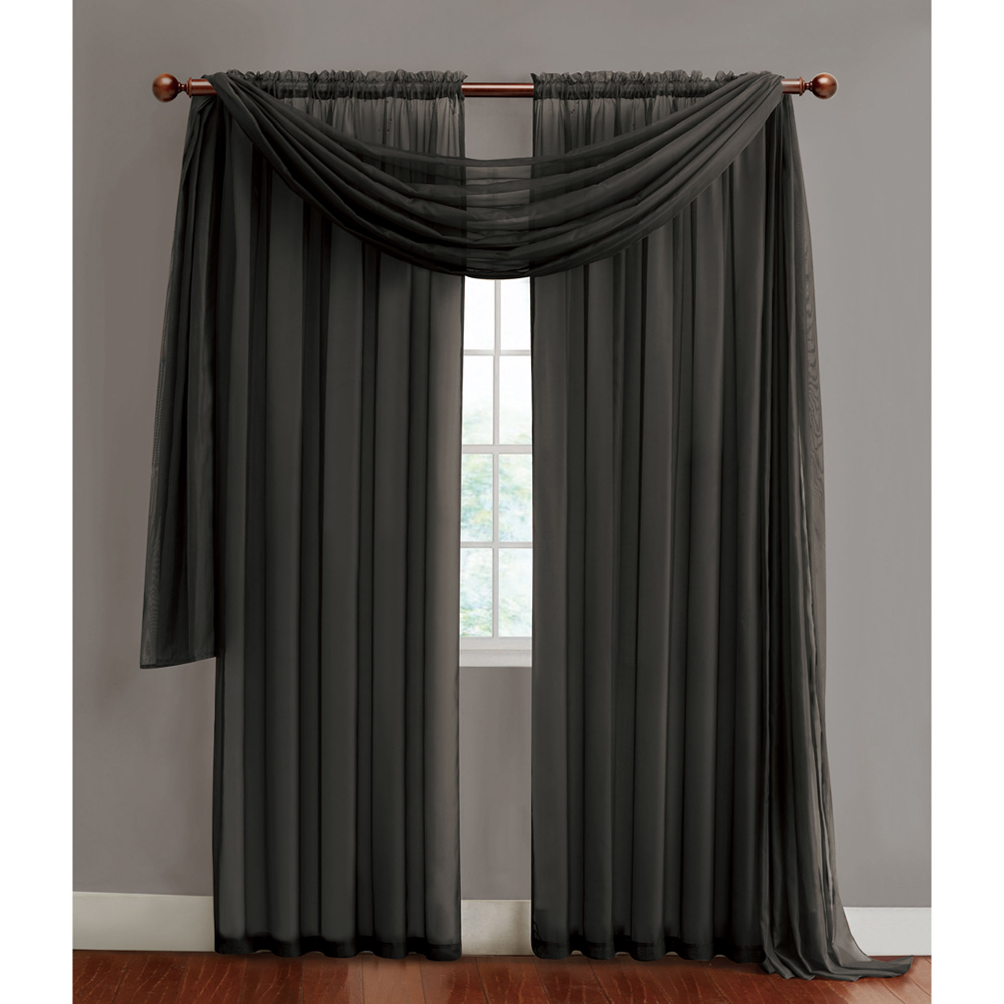 Current Infinity Sheer Rod Pocket Curtain Panels With Vcny Home Infinity Sheer Rod Pocket Window Curtains, Multiple Sizes Available – Walmart (View 6 of 20)