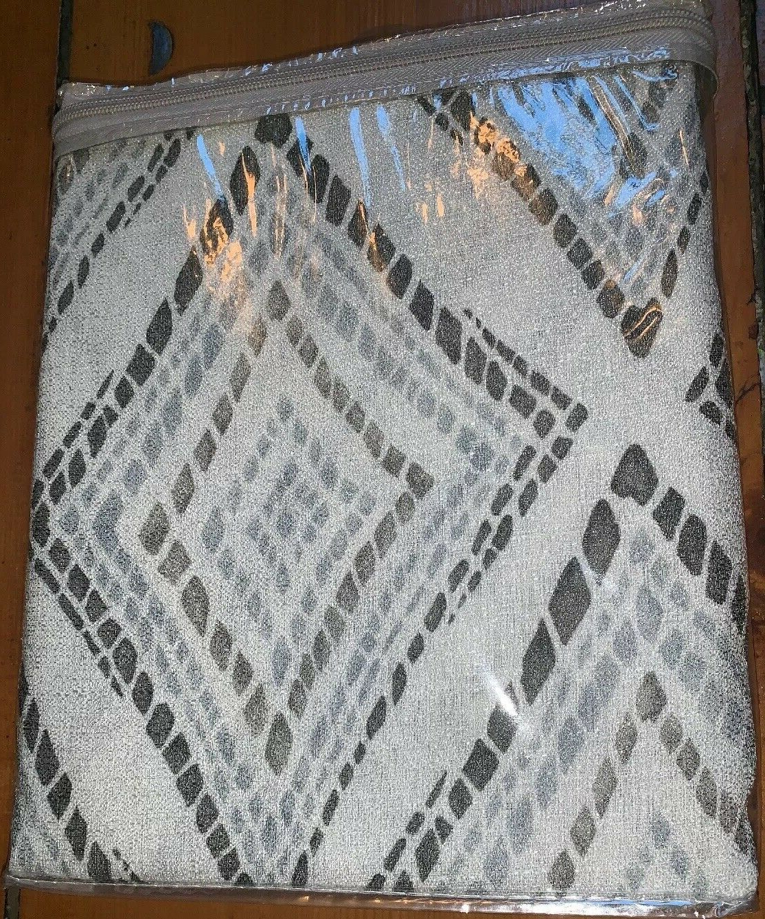 "Current Ink+ivy Bas Printed Etched Diamond Window Set Of 2 Panels 50x95"" Grey #ii40 720 For Ink Ivy Ankara Cotton Printed Single Curtain Panels (View 22 of 22)"